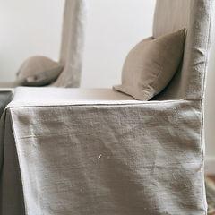 Stuhlhusse aus Leinen