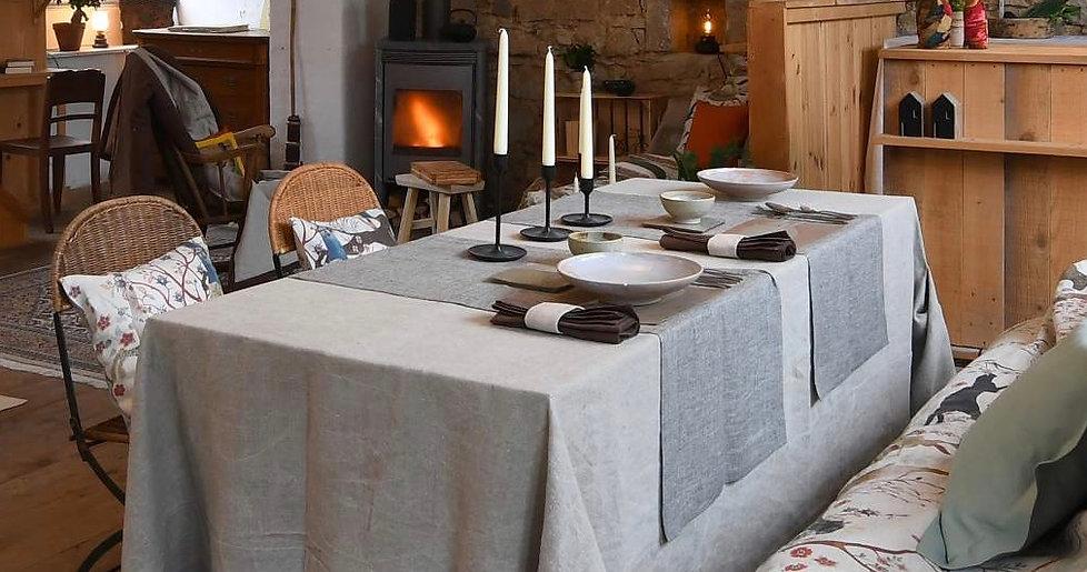 Tischwäsche Leinen natur