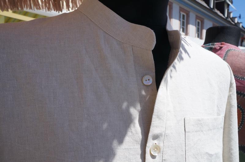 Stehkragenhemd aus LeineJessica Dörr