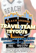 2021 R.E.A.C.H. Legends Travel Team Trouts