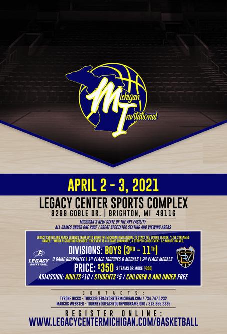 Legacy Center 2021 Michigan Invitational