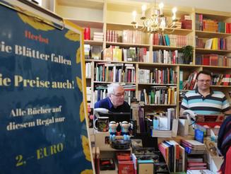 """Lhotzkys Literaturbuffet:""""Wir sind eine Buchhandlung, in der der Kaffee nie ausgeht."""""""