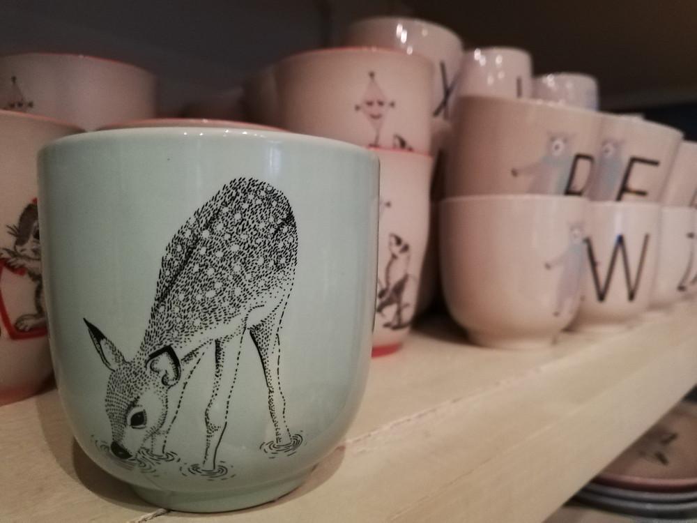 Dänische Keramik im Hannibals, Taborstraße