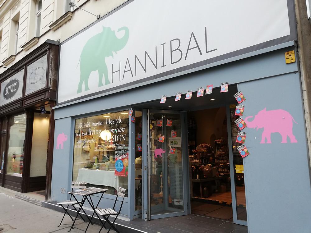 Hannibals Taborstraße, Fassade