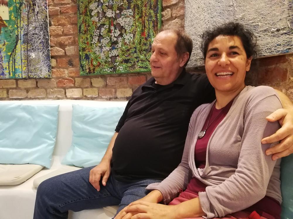 Gonca Warhanek und Alexander Charistos