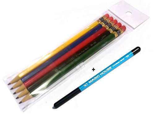 1 pack -- 5 pencils get 1 refill lead free