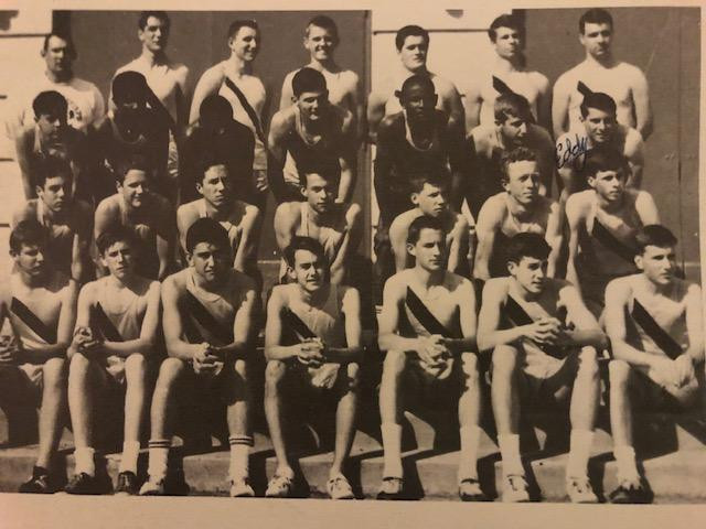 3rd row back; Eddy is on the end at the right and Roy is next to him.