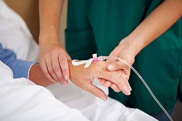 IV in patients hand
