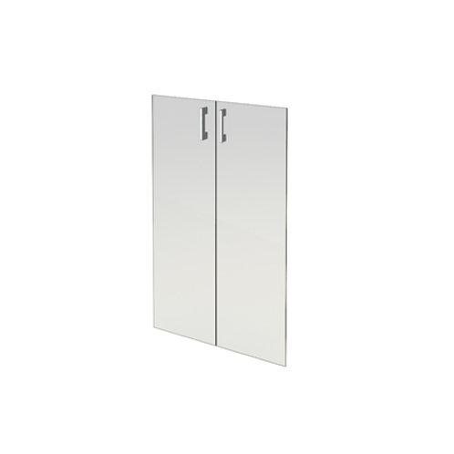 Комплект стеклянных дверей А-стл304 прозр. к широкому шкафу А-304 (71х115)