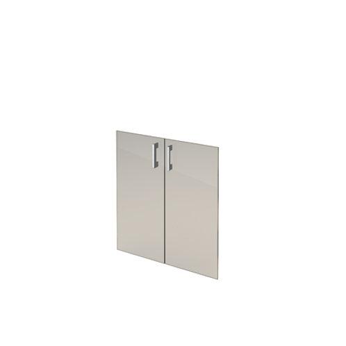 Комплект стеклянных дверей А-стл302 тон. к широкому шкафу А-302 (71х76)