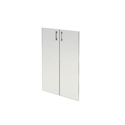 Комплект стеклянных дверей А-стл310 прозр. к широкому шкафу А-310 (71х112)
