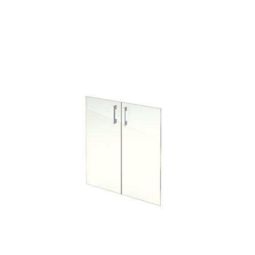 Комплект стеклянных дверей А-стл302 прозр. к широкому шкафу А-302 (71х76)