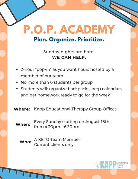 Kapp Ed Therapy POP Academy Less Info.jp