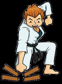 Karate mand gennembryder