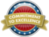 Commitment to excellence badge