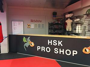 Horsens Selvforsvar Klubs Pro Shop