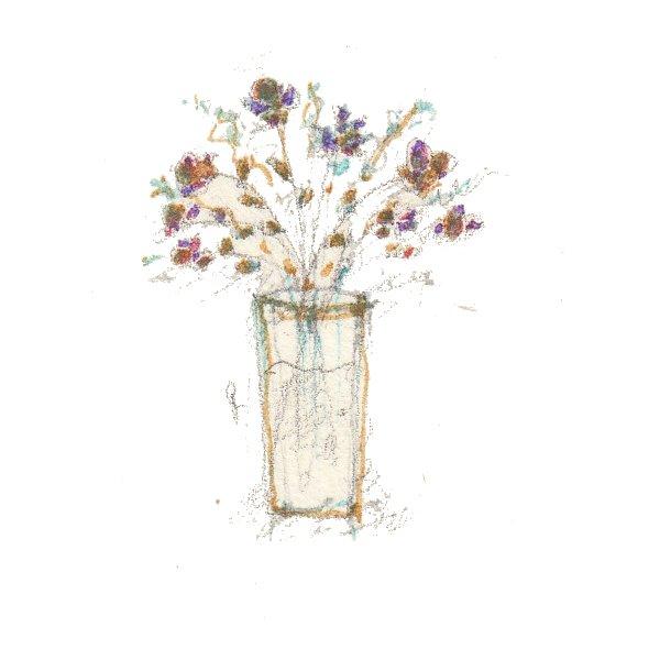 vaso con piccoli fiori