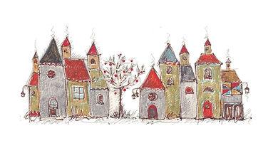 villaggio con albero dai frutti rossi!.j