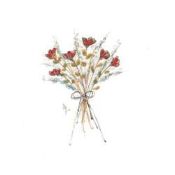 mazzolino fiori rossi