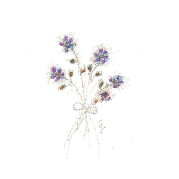cinque fiori viola