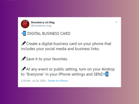 DIGITAL BUSINESS CARDS | Strawberry-Lit Magazine