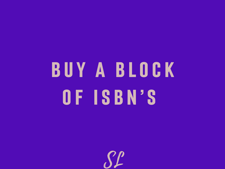 Buy A Block of ISBNs...Why?