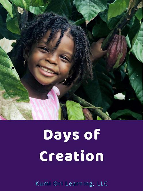 Days of Creation Curriculum