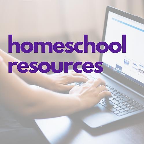 Homeschool Resources List