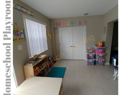 Our Homeschool Playroom -Creating a Learning Environment