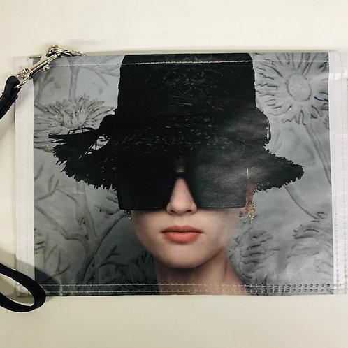 LAUREN - Black Straw Hat