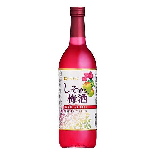 白鶴清酒 赤香梅酒 Shiso Umeshu 720ml