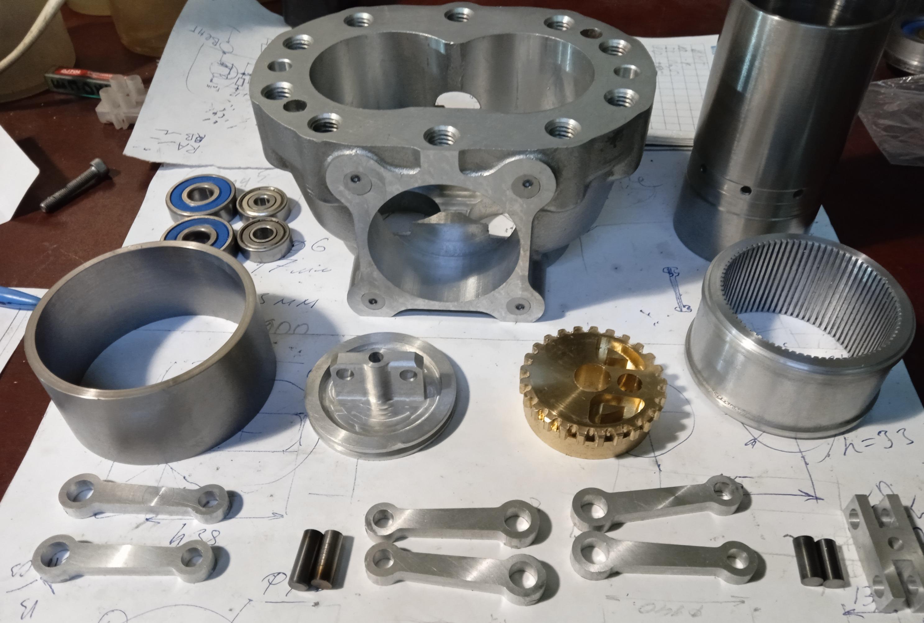 Детали двигателя Стирлинга