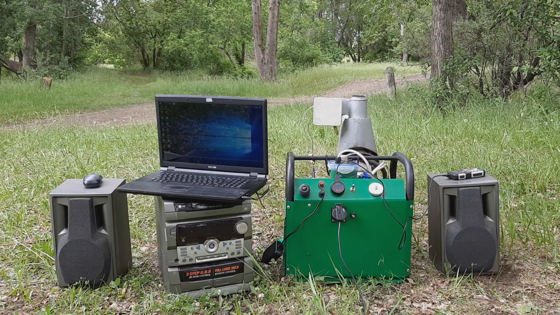 Генератор с двигателем Стирлинга на природе