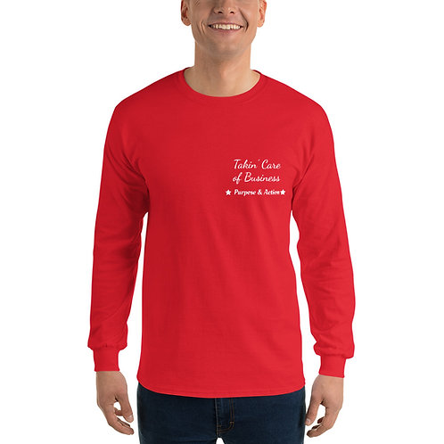 Takin' Care of Business Long-Sleeve Shirt (Red)