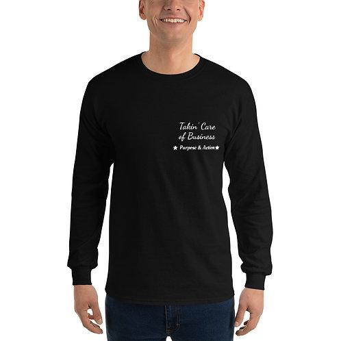 Takin' Care of Business Long-Sleeve Shirt (Black)