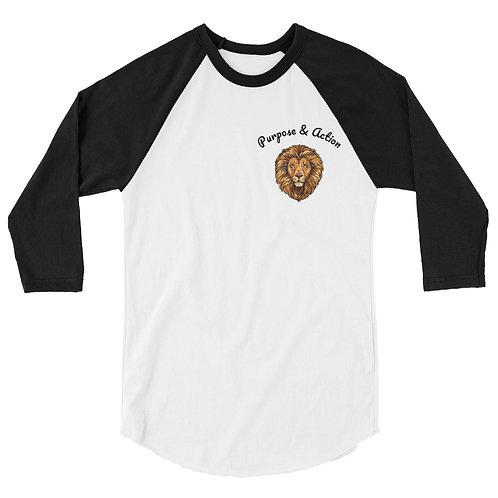 P&A Classic Baseball Shirt (Black/White)