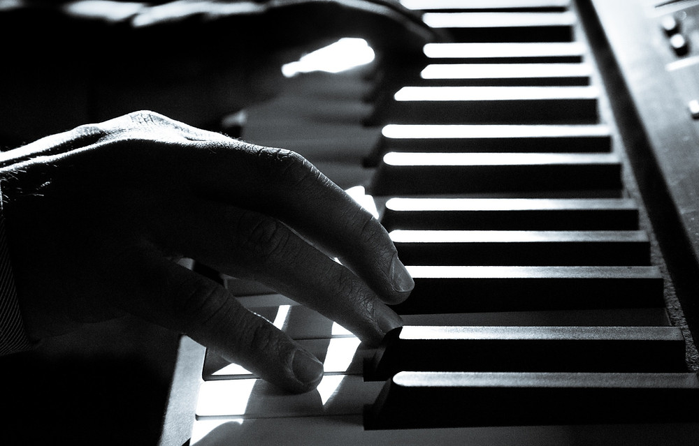 Playing the piano, keyboard, tickling the ivories, ready to play music, music, simplicity