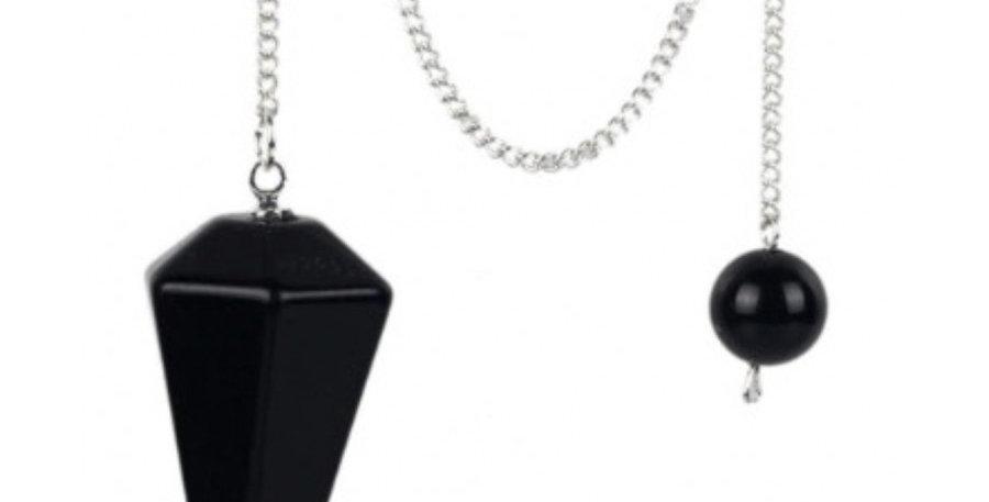 Black Tourmaline Truth Speaker 7 Chakra Pendulum