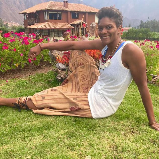 Alicia Thompson in Peru on The Sacred Jo