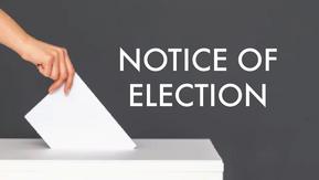 Notice of Election: Nov. 2, 2021