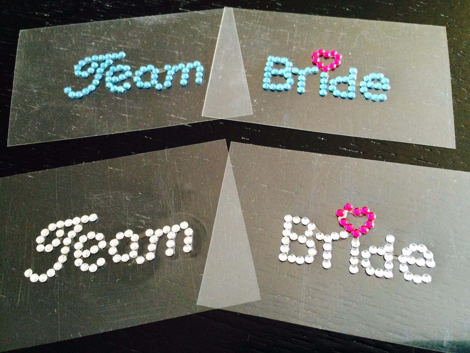 Team Bride felirat