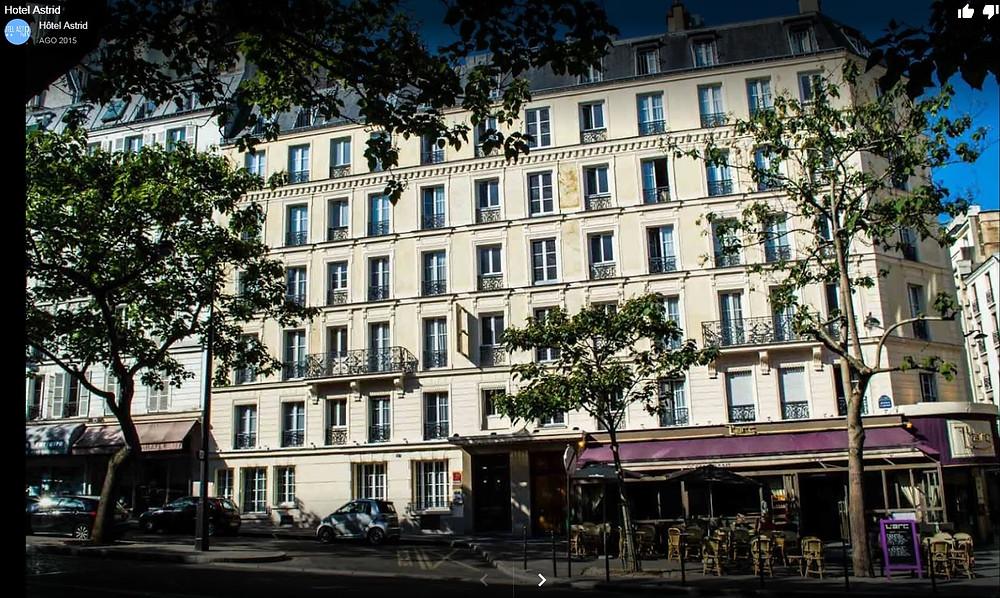 Fachada do Hotel Astrid - Paris