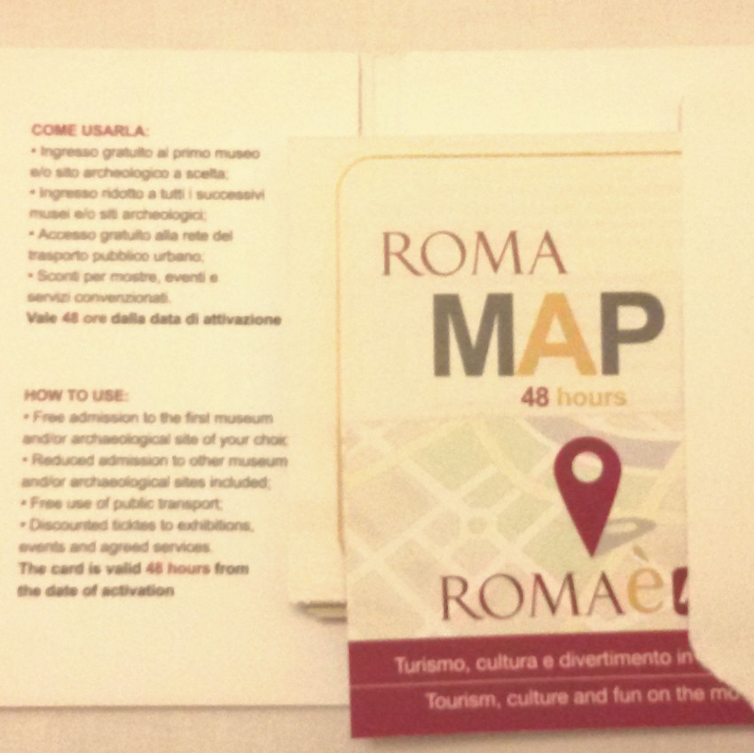 Roma Pass - Mapa