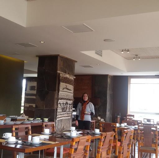 Área do café da manhã do hotel