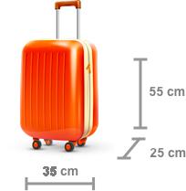 Dimensão bagagem de mão - Imagem de internet, fonte:https://www.voegol.com.br/pt/informacoes/viaje-sem-duvidas/bagagem-de-mao-e-despachada
