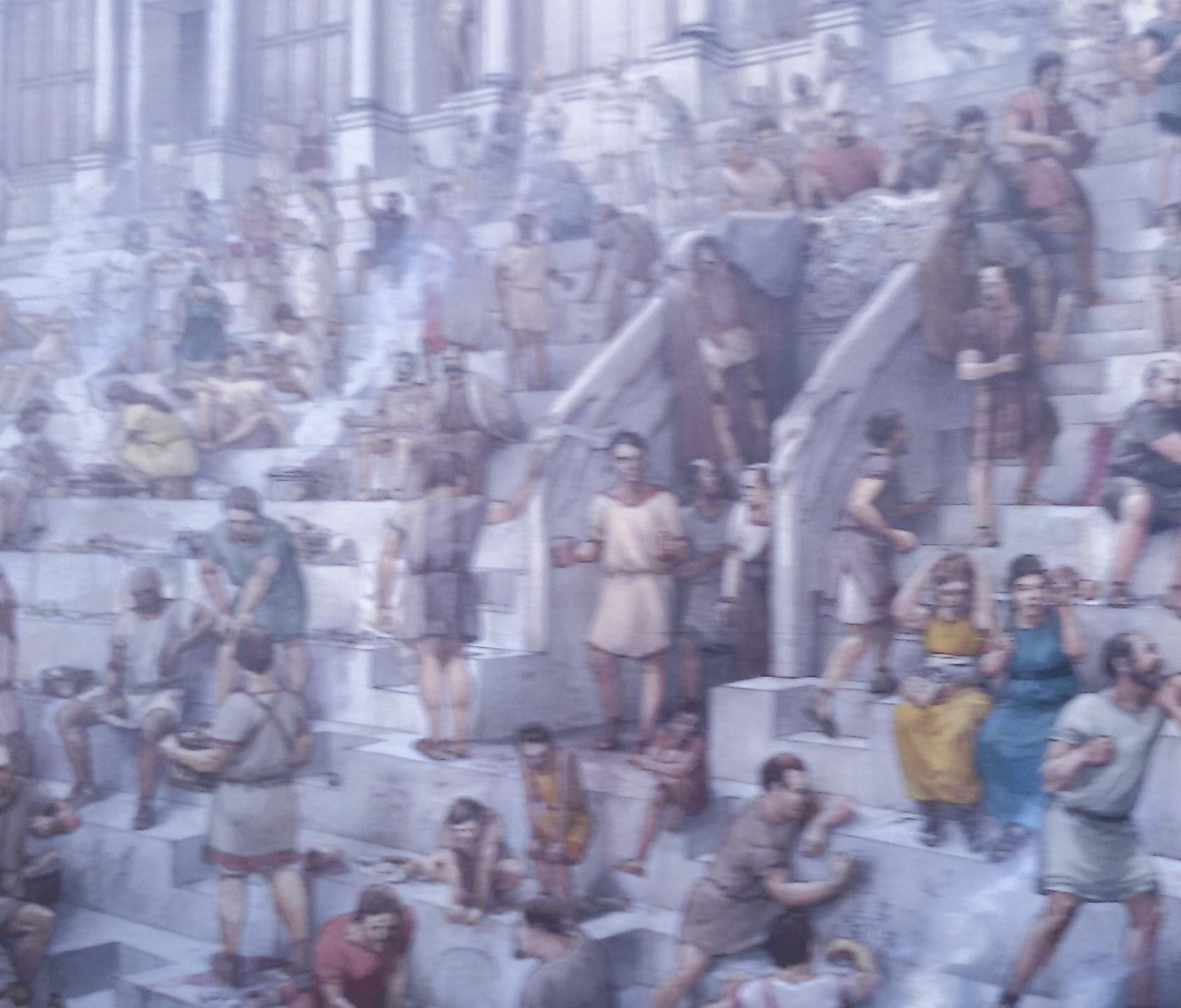 População dentro do Coliseu