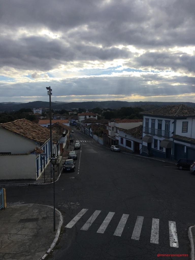 Vista da Igreja Matriz de Santa Luzia