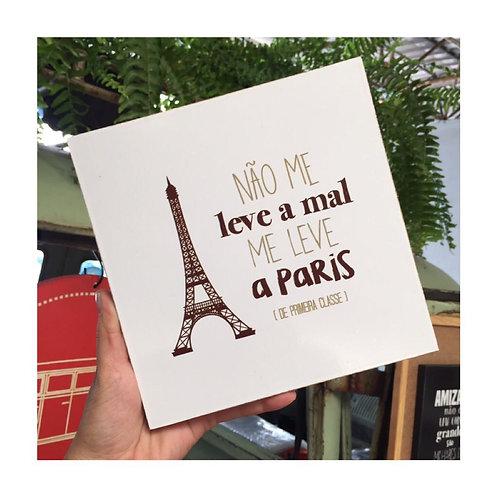 """Quadro decorativo """"Me leve Paris"""" - médio"""