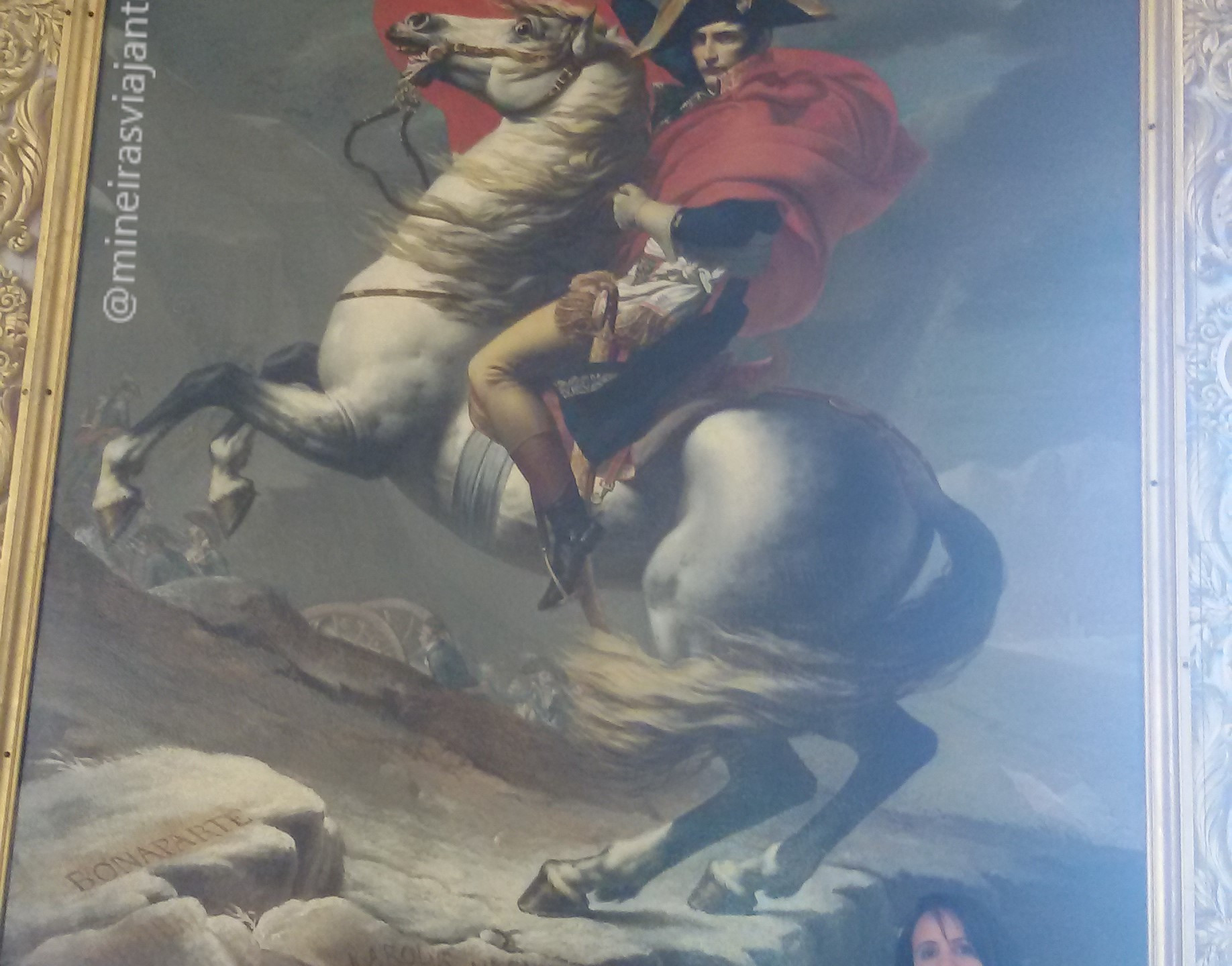 Bonaparte retratado em Versailles