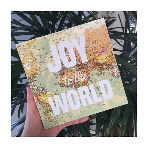 "Quadro decorativo Parada do Bem ""Joy to the World"""
